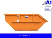A1-Container Absetzmulde 7m³ Mulde Container Orange Absetzmulde