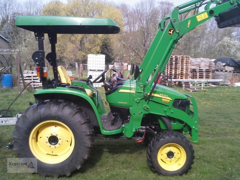 john deere 4520 frontlader mit mulde traktor. Black Bedroom Furniture Sets. Home Design Ideas